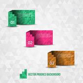 Paper Progress Background — Stock Vector