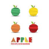 アップル [背景に用紙 — ストックベクタ