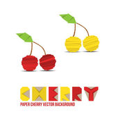 Paper Cherry Background — Stock Vector