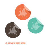 Map of Europe Button — Stock Vector