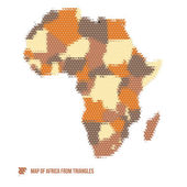 Mappa dell'africa da triangoli — Vettoriale Stock