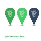 北美指针的地图 — 图库矢量图片