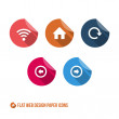 Web Design Paper Icons — Stock Vector