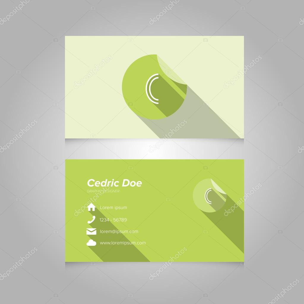 Letter C Template Simple business card template with alphabet letter c ...