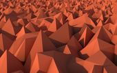Abstract Red Low Poly 3d Background with Depth of Field Effect — ストック写真