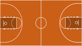 Vector Illustration of the Basketball Court Field Ground — Stock Photo