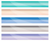 EPS Vector 10 - Horizontal web banner. Easy to change size. — Stock Photo