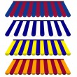 Stock Photo: EPS Vector 10 - Colorful set of striped awnings