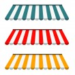 EPS Vector 10 - Colorful set of striped awnings — Stock Photo