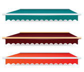 EPS Vector 10 - Colorful set of single color awnings — Stock Photo