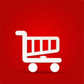 Shopping cart icon, shopping basket design — Stock Photo