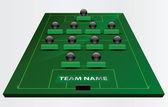 EPS Vector 10 - soccer field or football field — Stock Vector