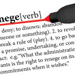 Stock Vector: Dictionary term of renege
