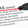 Stock Vector: Dictionary term of tax isolated on white background