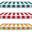 Colorful set of striped awnings — Stock Vector #37014429