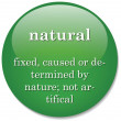 Stock Vector: Dictionary definition of term natural