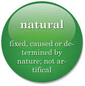 Dictionary definition of the term natural — Stock Vector