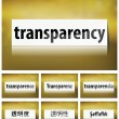 Stock Vector: Transparency Concept on white background