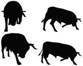 Rinder-Sammlung - Vektor-silhouette — Stockvektor