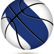 Stock Vector: Basketball ball with Finland flag on white.