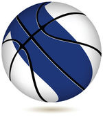 Basketball ball with Finland flag on white. — Stock Vector