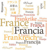 The France in word clouds — Vector de stock