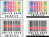 Bar Code icon over United Arab Emirates — Stock Vector