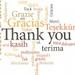 Thank you in word clouds — Stock Vector