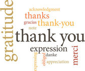 Thank you in word clouds — Stockvektor