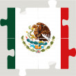 Mexico Flag in puzzle — Stock Vector #47166453