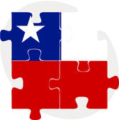 Chile Flag in puzzle — Stock Vector