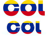 Colombia Flag in puzzle — Wektor stockowy