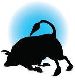Bull Silhouette — Vettoriale Stock