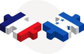フランス語し、ホンジュラスのフラグのパズル — ストックベクタ