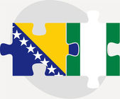 Герцеговины(*) Боснии и Нигерийский флаги в головоломки — Cтоковый вектор