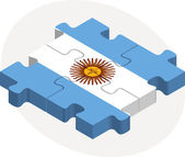 Argentinian Flag in puzzle — Stockvector