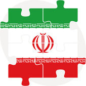 Iranian Flag in puzzle — Stock Vector