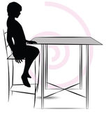 Man sitting at the table — Cтоковый вектор