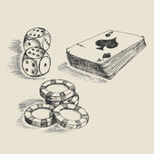 Gambling sketch — Stock Vector