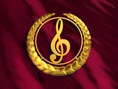 Golden treble clef — Stock Photo