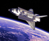 Space Shuttle in Space. — Stock Photo