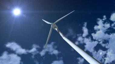 Wind Generator Crashes. — Stock Video
