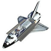 Space Shuttle On White Background. — Stock Photo