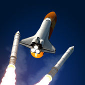 Solid Rocket Buster Detached. — Stock Photo