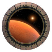 Mars Spacecraft Porthole. — Stockfoto