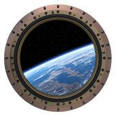 Space Station Porthole. — Stock Photo