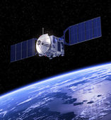Satellite Orbiting Earth. — Stock Photo