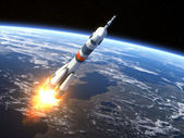 "Carrier rocket ""Soyuz-FG"" Launching — Stock Photo"
