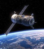 "Cargo Spacecraft ""Progress"" Orbiting Earth — Stock Photo"