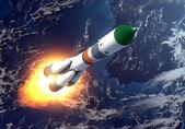Cargo Rocket Takes Off — Stock Photo